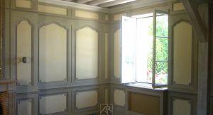 Peinture de décor dans un salon